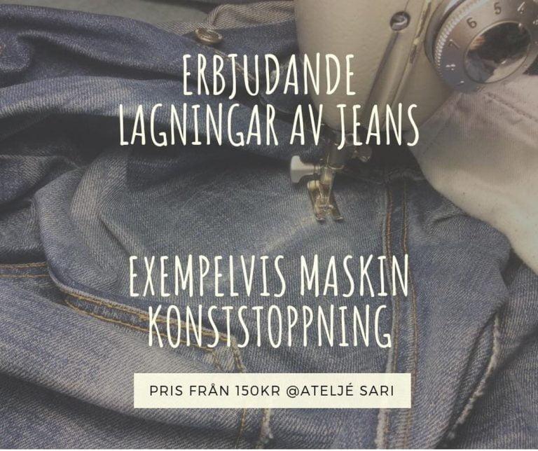 En fortsättning på förra inlägget och en för dina favoritjeans! Det är värt att nämna, det behöver inte kosta så mycket att fixa till sina jeans. Vi kan erbjuda konststop på ett fint och yrkeskunnigt sätt. Efter en lagning och en förstärkning är dina jeans redo för flitig användning. Välkommen att boka en tid hos Din Skräddare i Helsingborg.